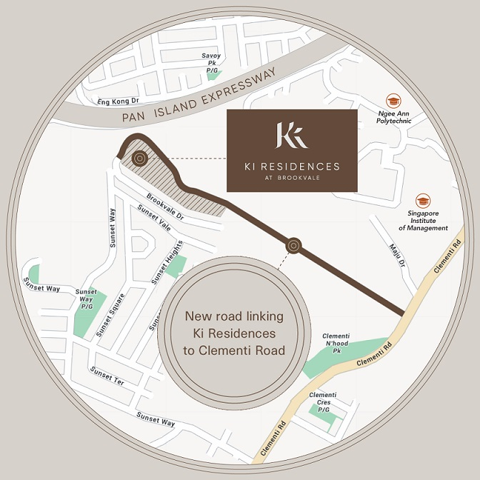 Ki Residences New Access Road Map